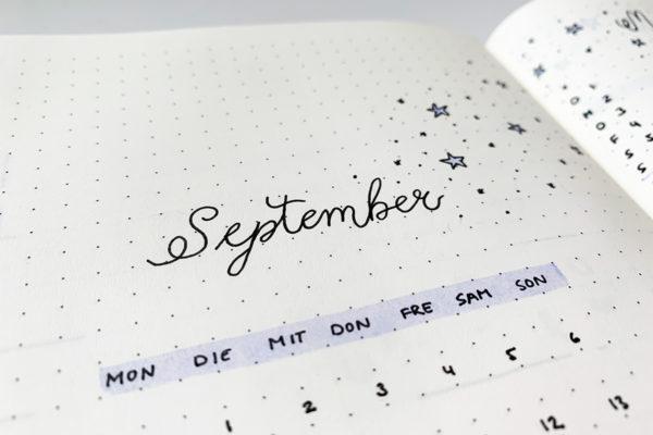 September Bullet Journal Setup 2020