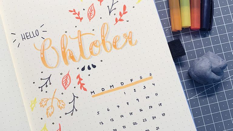 Oktober Bullet Journal Setup 2020