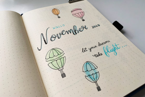 November Bullet Journal Setup 2020