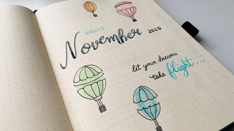 november bullet journal setup 2020