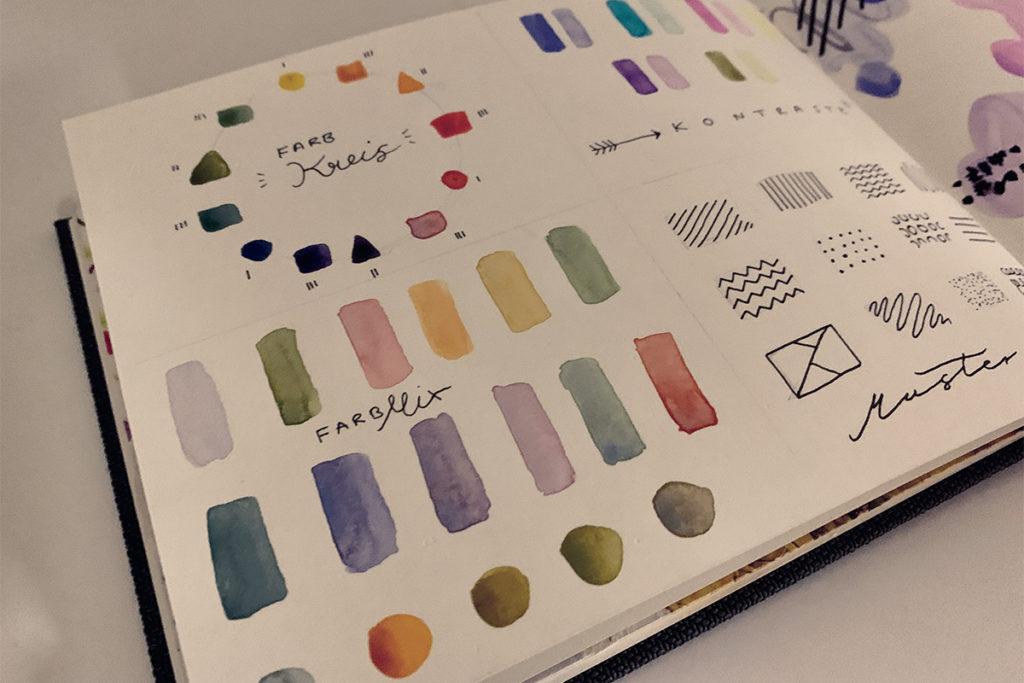 Farbkreis kreative Reise