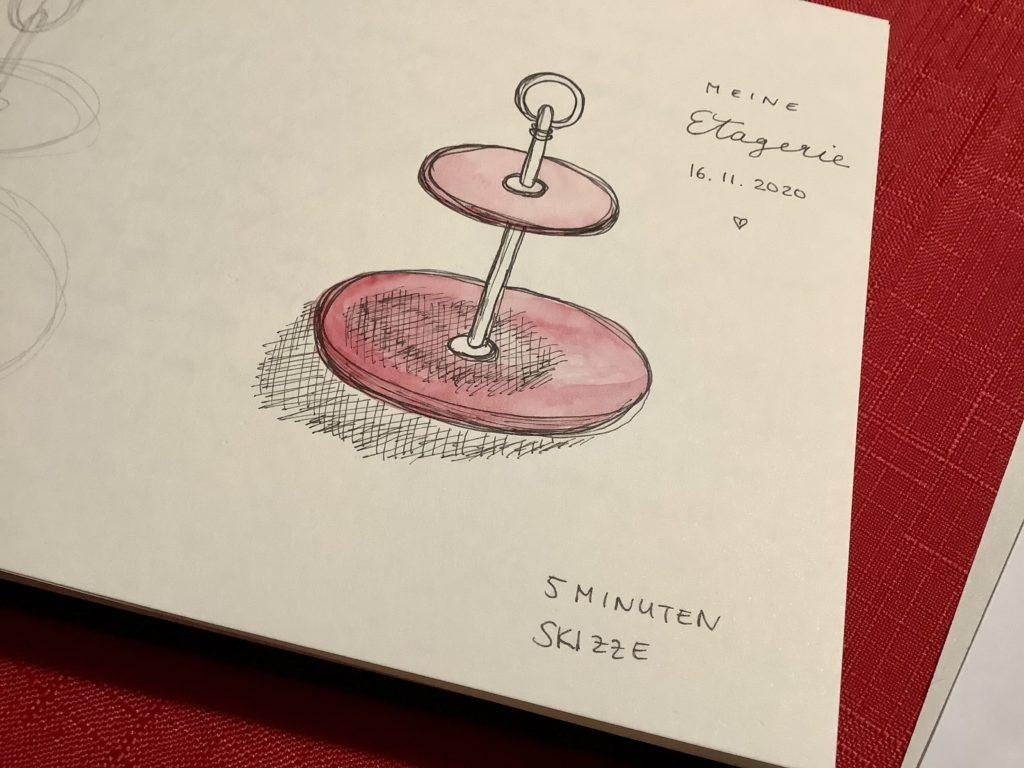 Teil 2 meiner Reise zum kreativeren Ich Zeichnung in 5 Minuten