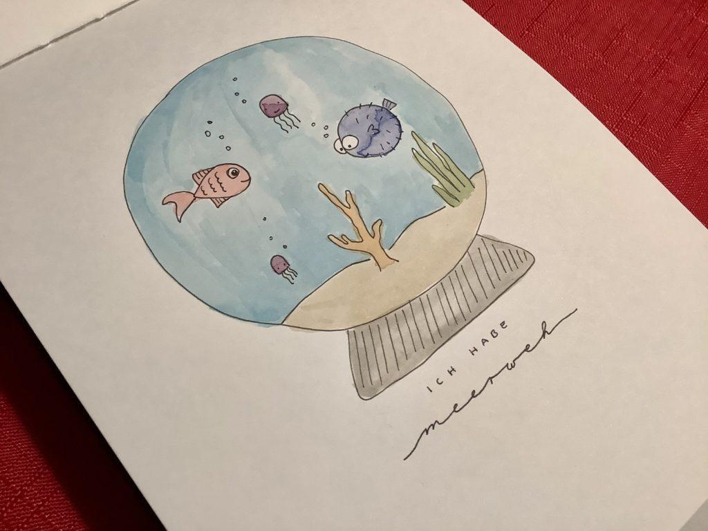 Teil 2 meiner Reise zum kreativeren Ich Aquarell