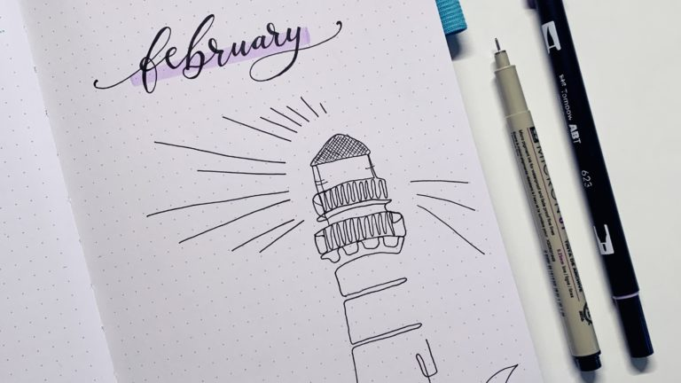februar bullet journal setup 2021 cover