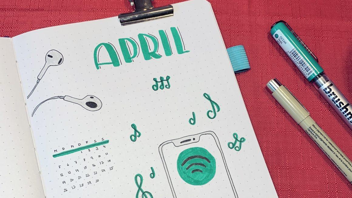 Beitrag April Bullet Journal Setup 2021