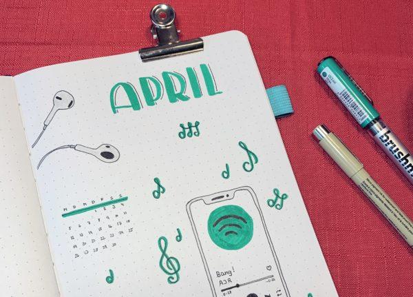 April Bullet Journal Setup 2021